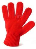 Handschuh mit Anzeigenzeichenkette Stockfotografie