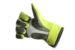 Handschuh mit dem Daumen oben Stockfotografie