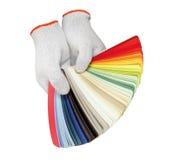 Handschuh und pantone Lizenzfreies Stockfoto