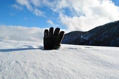 Handschuh und Schnee Lizenzfreie Stockfotos