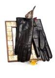 Handschuhe des Mannes stockfoto