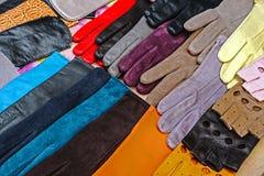 Handschuhe für Frauen Stockfotografie