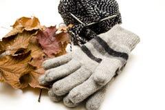 Handschuhe mit Schnurwolle Lizenzfreies Stockfoto