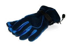 Handschuhe sind auf dem weißen Hintergrund Lizenzfreies Stockfoto
