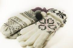 Handschuhe und Handschuhe Wollen Lizenzfreie Stockbilder