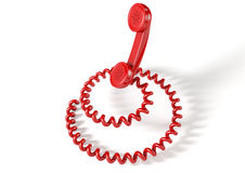 Handset And Coiled Cord Royalty Free Stock Image