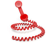 Handset And Coiled Cord Stock Images