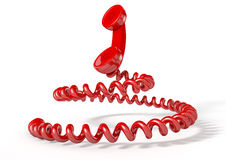 Handset And Coiled Cord Royalty Free Stock Photo