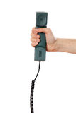 Handset in hand Stock Photography