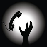 Handset and hand Stock Images