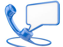 Handset icon with chat bubble Stock Photography