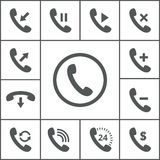 Handset icons Royalty Free Stock Photos