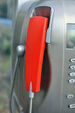 Handset of a public telephone Stock Photo