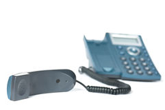 Handset and telephone Royalty Free Stock Photography