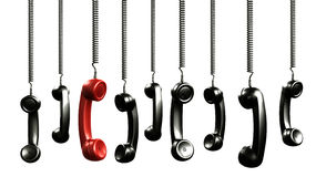 Handset from vintage phone Royalty Free Stock Photos