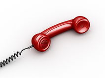 Handset from vintage phone Stock Image