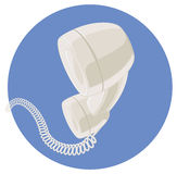 Handset of vintage telephone. Stock Photography