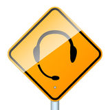 Handsfree road sign isolated Stock Photography