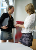 Handshake. Two females - business handshake Royalty Free Stock Image