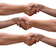 Handshake. Hands who are friends and taking a shake Stock Images