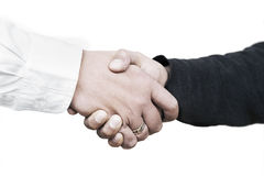Handshake. Between a customer and a salesman Royalty Free Stock Images