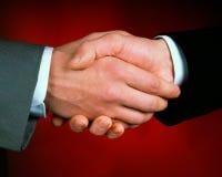 Handshake. Symbolic, gentlemen's Royalty Free Stock Image