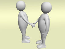 Handshake. Two businessman making a handshake. Business concept Stock Photos