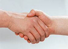 A handshake. It's a deal royalty free stock photos