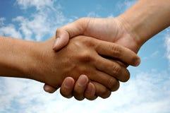 handshake arkivfoton