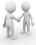 Handshake. Computer generated image of a simple handshake Stock Image
