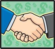 Handshake. Two men in suits shaking hands Stock Photo