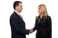 Handshake. Two businessmen hands handshake isolated on white background. Studio work Royalty Free Stock Photos