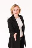 Handshake #2. Business woman finalising deal with handshake Stock Photography