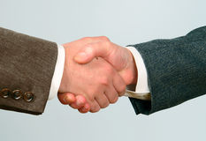 Handshake-2. Handshake. Sealing business transaction,studio Stock Image