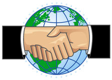 Handshake. An illustration of partnership handshake Stock Photos
