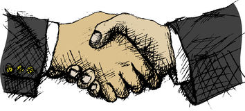 Handshake. Vector illustration of shaking hands Stock Photography