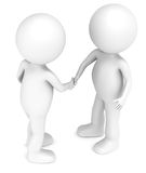 The Handshake. 3D little human characters X2 handshaking. People series vector illustration