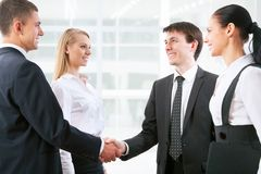 Handshake. Business people before the meeting Royalty Free Stock Images