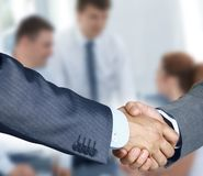 Handshake. Business handshake and business people Royalty Free Stock Images