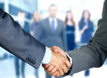 Handshake. Business handshake and business people Royalty Free Stock Photo