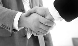 Handshake. Two business people handshake on a deal Stock Photography