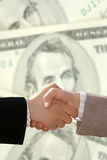 Handshake. Two businessmen shaking hands after agreement about a job Royalty Free Stock Images