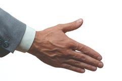Handshake. On white Stock Image