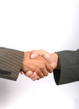 Handshake. Business handshake with white background Stock Photo