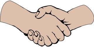 Handshake. Draw  : handshake Stock Image