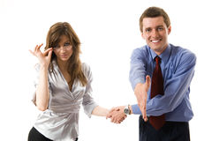 Handshake. Royalty Free Stock Image