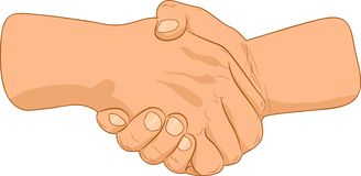 Handshake. Double handshake sing. Vector illustration Royalty Free Stock Images