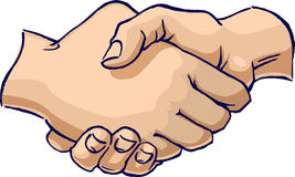 Handshake. A simple iconic hand gesture of a handshake royalty free illustration
