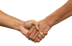 Handshake. An isolated image of two hands that are...erm. Shaking Stock Photos