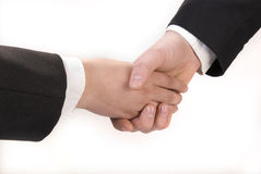 A Handshake. Close-up of two businessmen's handshake Stock Photography